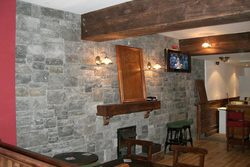 Decorative Interior Stone Veneer : North star stone top most fireplace